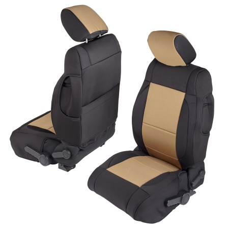 Smittybilt-Neoprene-Seat-Cover2 black tan jeep wrangler