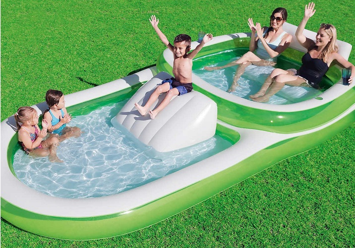 Bestway H2OGO! 2-in-1 Wide Inflatable Family Pool