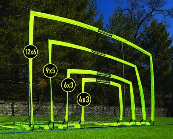 portable practice soccer goal size chart