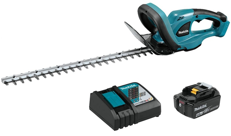 Makita XHU02M1 18V LXT Lithium-Ion Cordless 22 Hedge Trimmer Kit