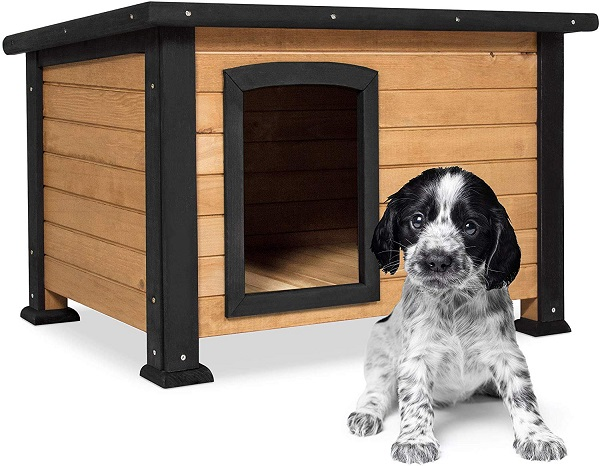 Best Choice Products Wooden Weather-Resistant Log Cabin Dog House