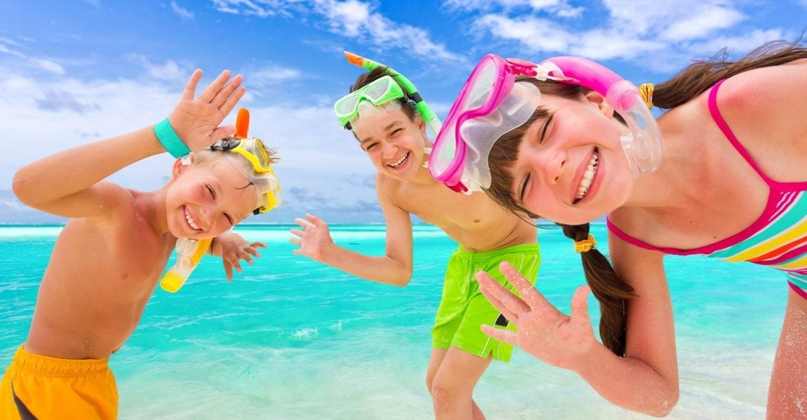 how to snorkel with kids