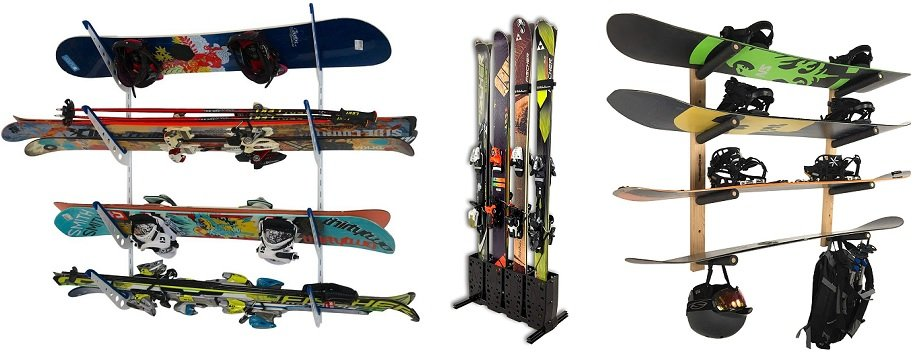 best ceiling ski & snowboard rack