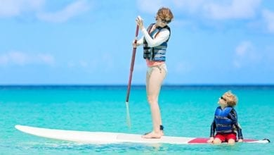 how to paddle board with kids
