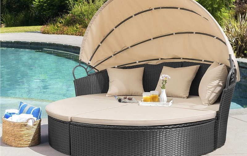 best outdoor daybed with canopy