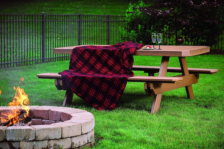 LuxCraft Outdoor Picnic Table