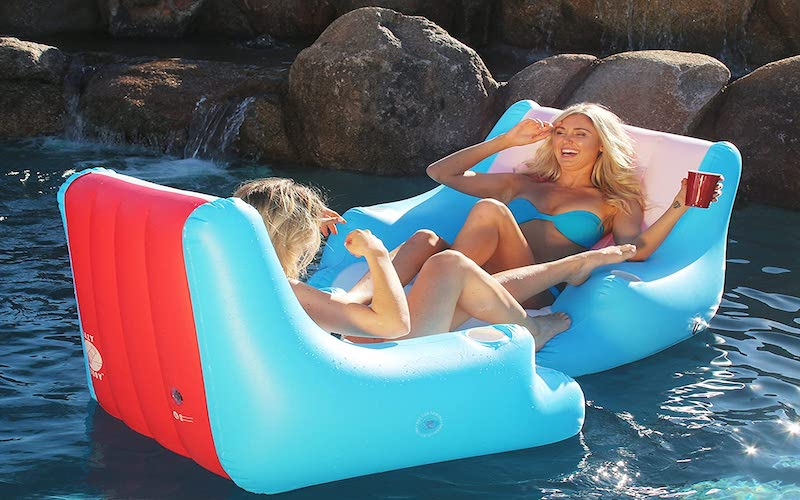 Details about  / Wavy Swimming Pool Lounger for Adults and KidsUltra Buoyant Water Floats