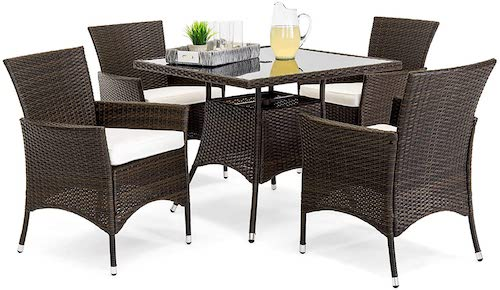 Best Choice Products Wicker Patio Set