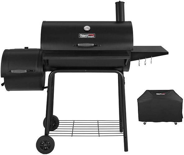 Royal Gourmet CC1830SC Charcoal Grill Offset Smoker with Cover